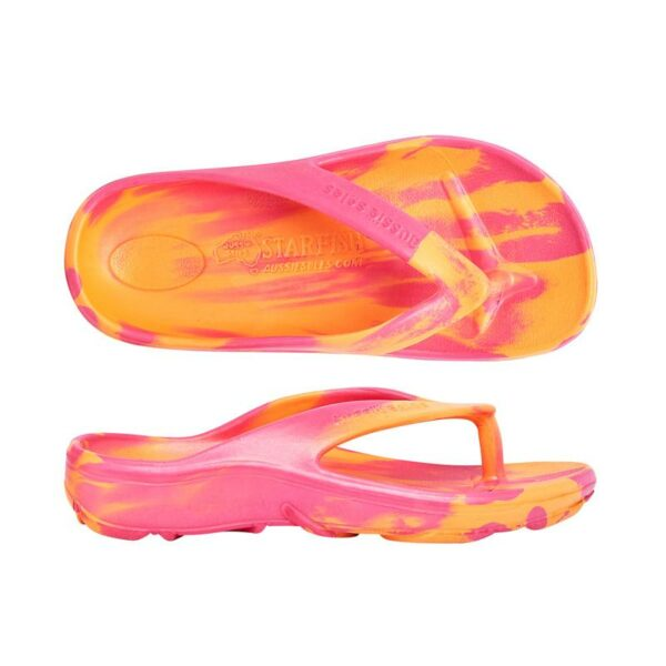 Fuchsia Orange Orthotic Support Thong