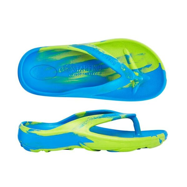Blue Green Orthotic Arch Support Thong